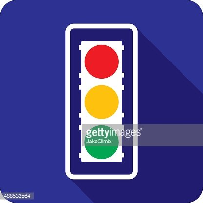 Traffic Light Icon Silhouette. Order Source File