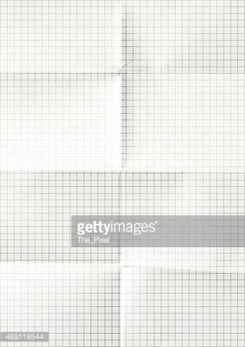 White graph paper background texture.