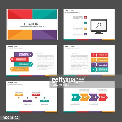Colorful Multipurpose Infographic elements presentation template flat design