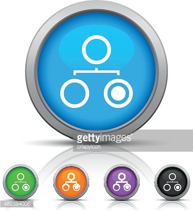 Organization Chart icon on round buttons. - Gloss Series