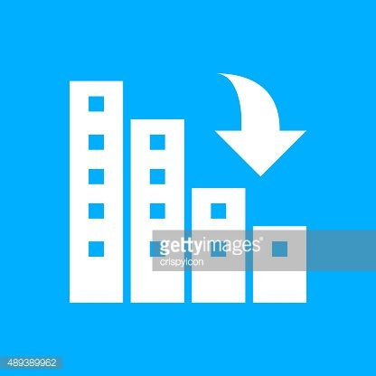 Apartment Building icon on a blue background.