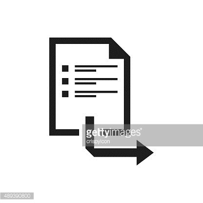 Document icon on a white background. - Single Series