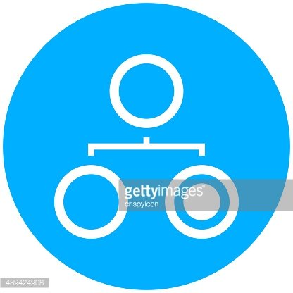 Organization Chart icon on a round button. - Round Series