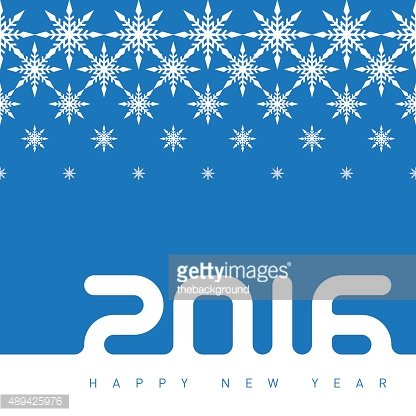 Happy new year 2016. Creative greeting card design template