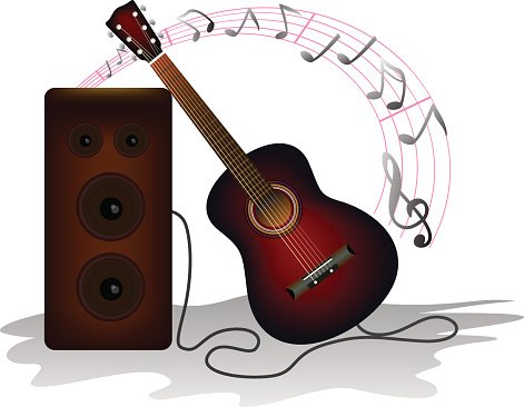 Acoustic guitar and Music Note song