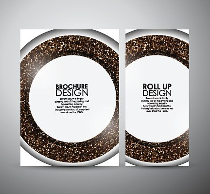 Abstract brochure business design template or roll up.