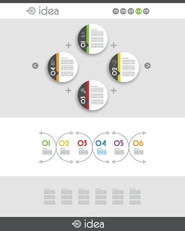 colorful website template with four rings