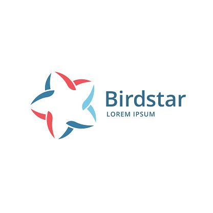 Abstract bird star icon design template elements