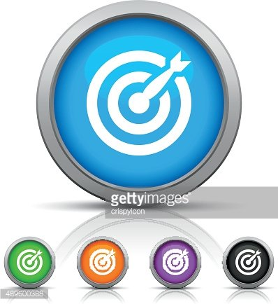 Target icon on round buttons. - Gloss Series