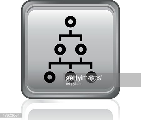 Organization Chart icon on a square button. - Steel Series