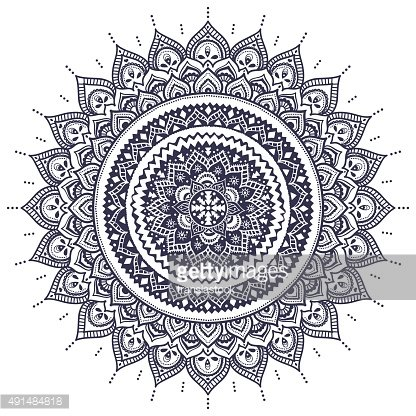 Beautiful Indian floral mandala ornament