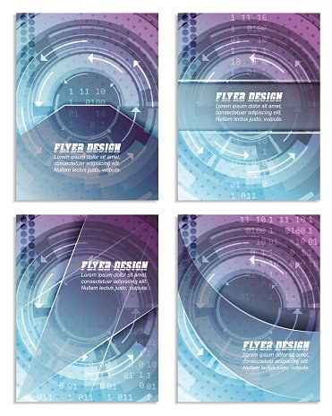 Set of abstract business flyer template