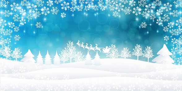 Snow Christmas Background Clipart Image 1 566 198 Clip Arts