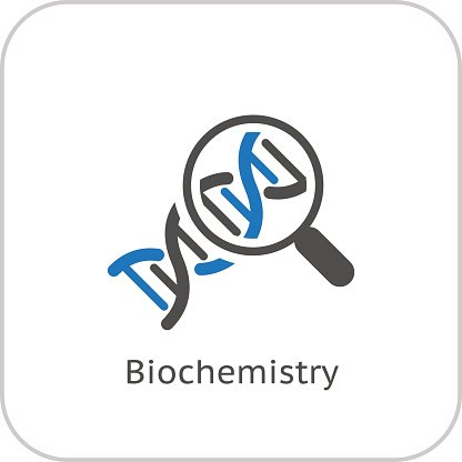 Biochemistry Icon. Flat Design.