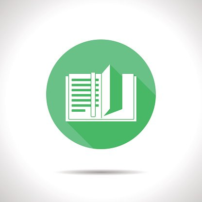 Vector notebook icon. Epsflat0