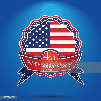 4th of July, American independence day badge . Happy independenc