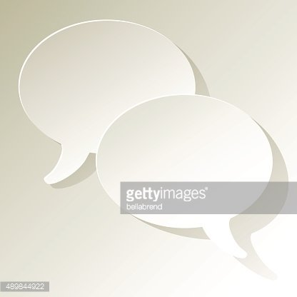 Chat speech bubbles ellipse vector white.