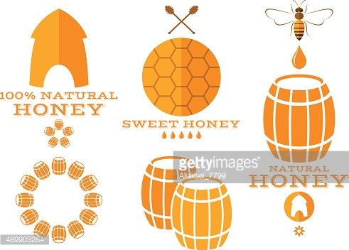 Honey. Isolated labels and icons