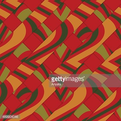 Retro 3D diagonal stripes with red yellow green