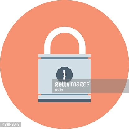 Security, locked theme, flat style, colorful, vector icon for in