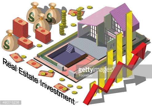 illustration of info graphic real estate investment concept