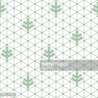 Seamless New Year's and Christmas geometrical background with fir