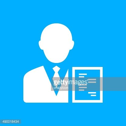 Businessman icon on a blue background. - Smooth Series