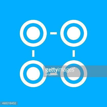 Flowchart icon on a blue background. - Smooth Series