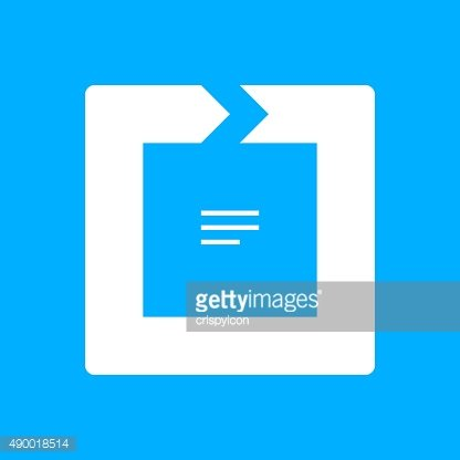 Chevron Chart icon on a blue background. - Smooth Series