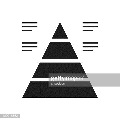 Pyramid icon on a white background. - Single Series