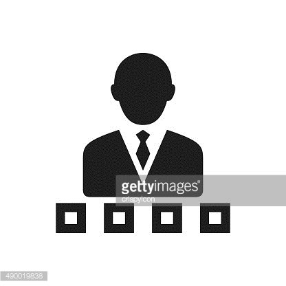 Businessman icon on a white background. - Single Series