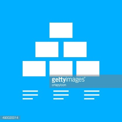 Pyramid icon on a blue background. - Smooth Series