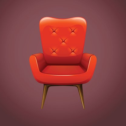Miraculous Red Armchair Wooden Legs Premium Clipart Clipartlogo Com Home Interior And Landscaping Ologienasavecom