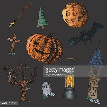 Set of icons for Halloween.