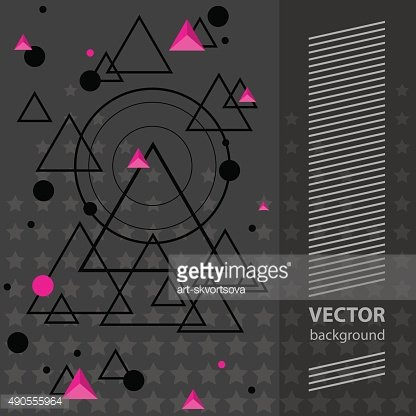 Abstract geometric party banner vector illustration