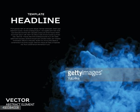 Vector illustration of smoke elements on black