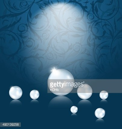 Luxury dark background with pearl reflect
