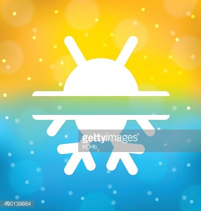 Abstract background with logo of symbol climate balance