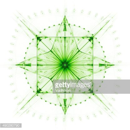 Cabalistic sign a four-pointed star with circle and square.
