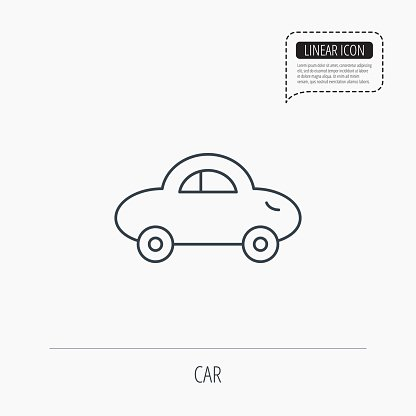 Baby car icon. Transport sign.