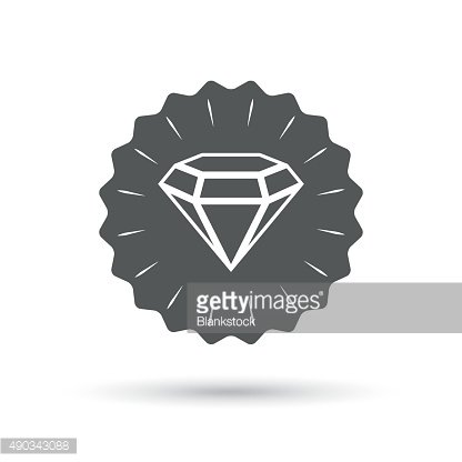 Diamond sign icon. Jewelry symbol. Gem stone
