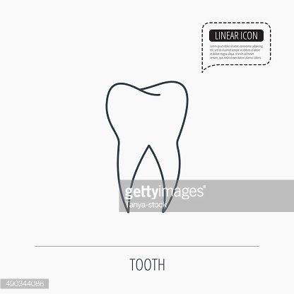 Tooth icon. Dental stomatology sign.