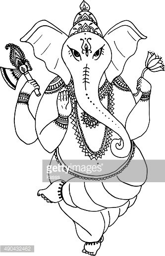 Hindu elephant God Lord Ganesha, patron of arts, sciences