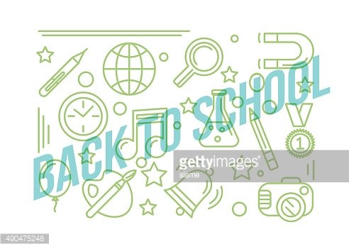 School linear icon. Education design illustration. Back to schoo