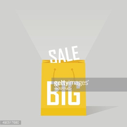 big sale bags over gray background