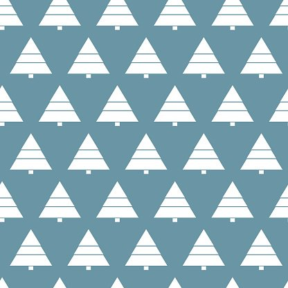 Simple retro Christmas pattern. Winter background. Endless textures in blue