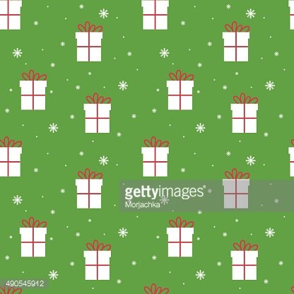 Seamless Christmas pattern. Scrapbook. New Year theme. Vector illustration