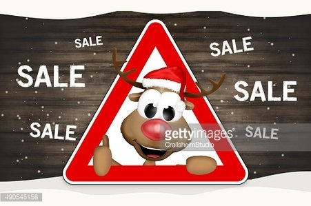 cute christmas reindeer thumbs up red sign