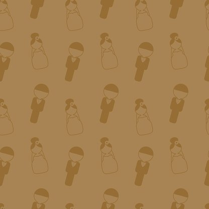 Wedding seamless pattern. Invitation, card, banner, tag. Marriage event.
