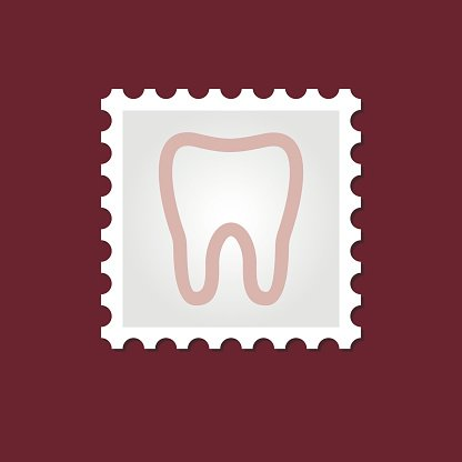 Tooth medical stamp